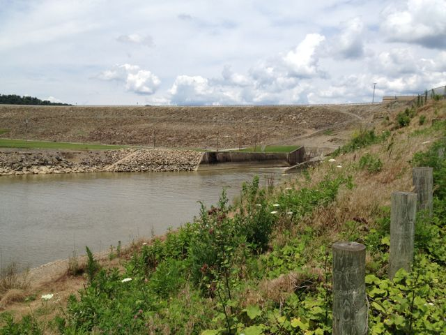 Army Corps of Engineers projects like this dam are often paired with camp and picnic opportunities