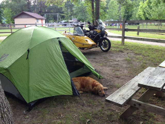Naptime at Kesselwood Campground