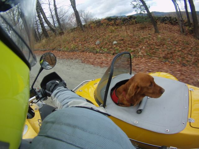 Tulliver's first sidecar ride